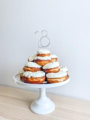 DONUT TOWER CAKE