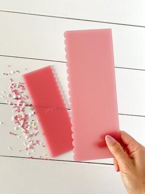 CAKE COMB DUO - scalloped/straight edge