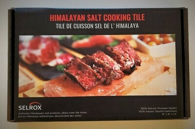 Selrox Himalayan Salt Cooking Block and Grilling Tile