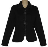 Sexy NEW    Denim Jacket w Crystal Zipper   (PLAIN)
