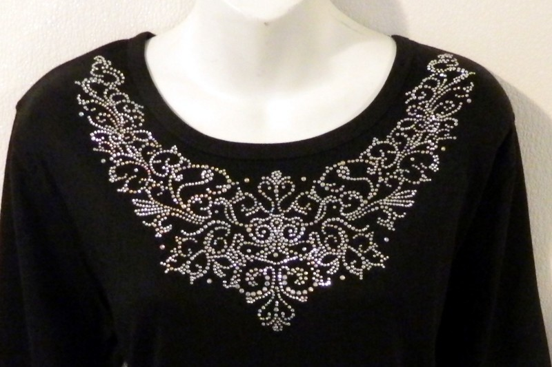 Ornate Vintage AB & Clear RD Neckline