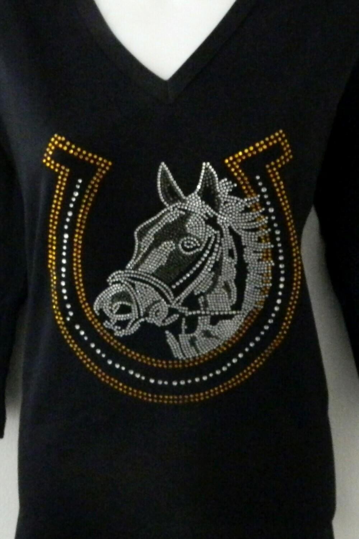 Horse in Horseshoe  (lg design)