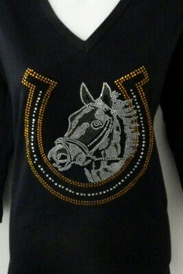 Horse in Horseshoe  (lg design)