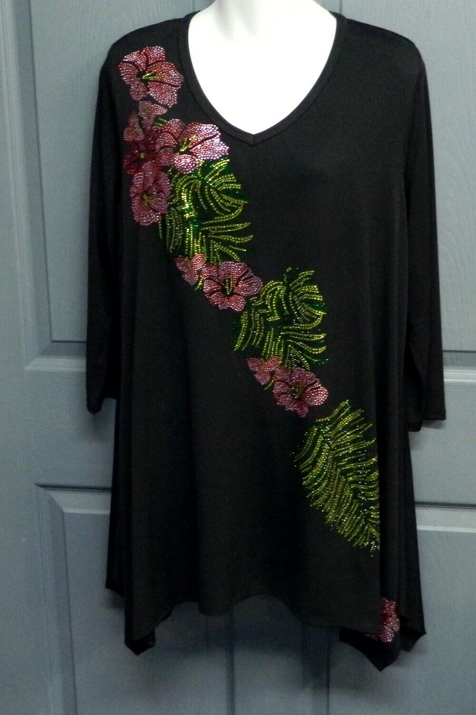 Hibiscus & Palm Tunic