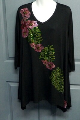 Hibiscus & Palm Tunic