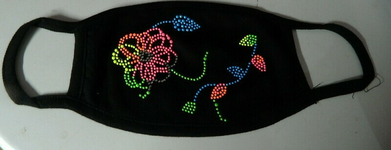 NON-SURGICAL  FACE MASKS   NEON FLOWERS