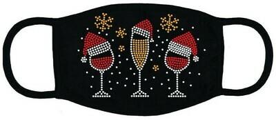 Christmas Masks    Christmas Wine Glasses w Hats