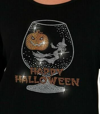 Happy Halloween in Brandy Snifter