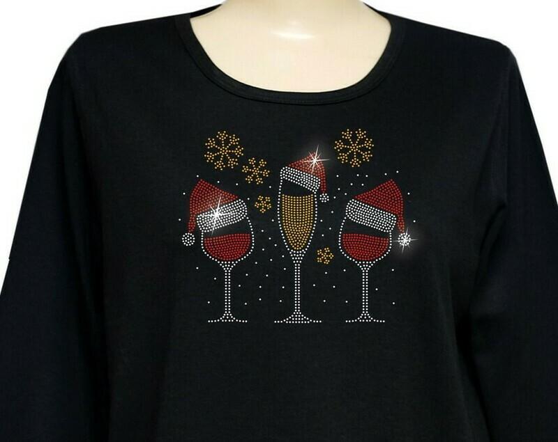 Christmas Wine Glasses w Matching Mask