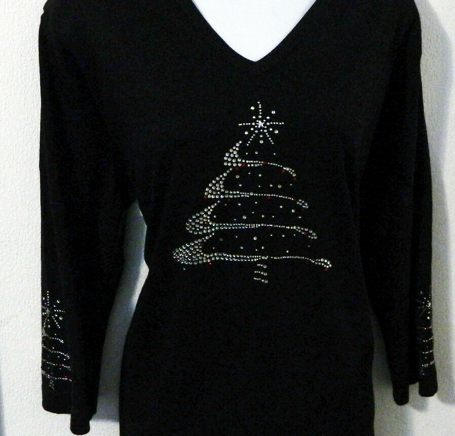Christmas Tree w Trees on sleeves