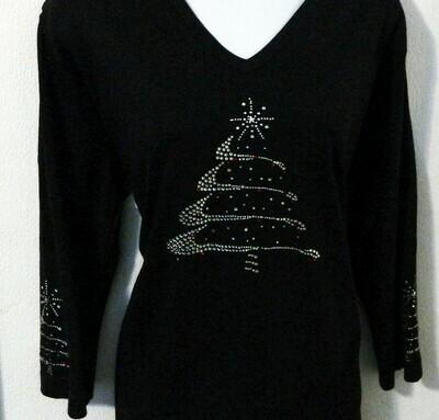 Christmas Tree w Trees on sleeves