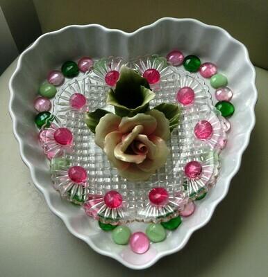 HEART & ROSE PLATE