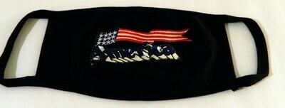 AMERICA W WAVING FLAG  No Rhinestone Design