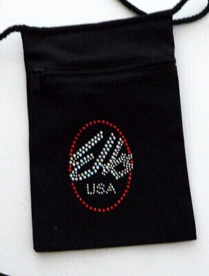 ELKS - OVAL LOGO  ON ZIPPERED POUCH