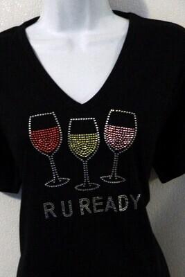 R U READY  (WINE GLASSES)