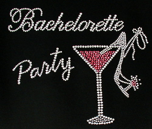 Bachlorette Party w Sexy High Heel & Cosmo