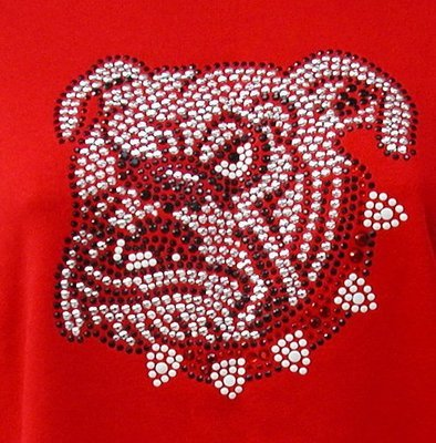 Bull Dog w Red & White Collar