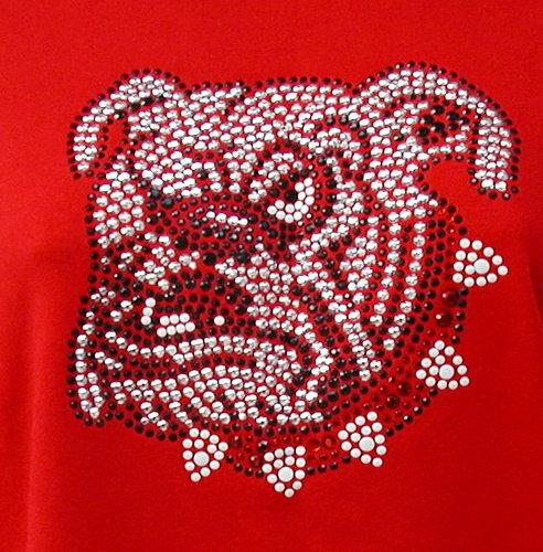 Bull Dog w Red & White Collar