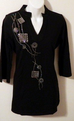 Tunic -   Mandarin Collar/abstract design