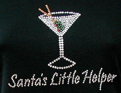 Santa's Little Helper  (Martini Glass)