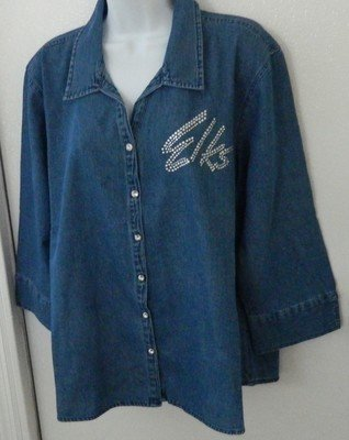 ELKS     DENIM SHIRT  w Script Logo