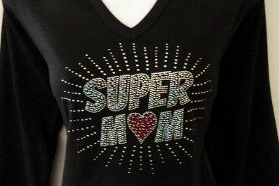 SUPER MOM   (AB stones)