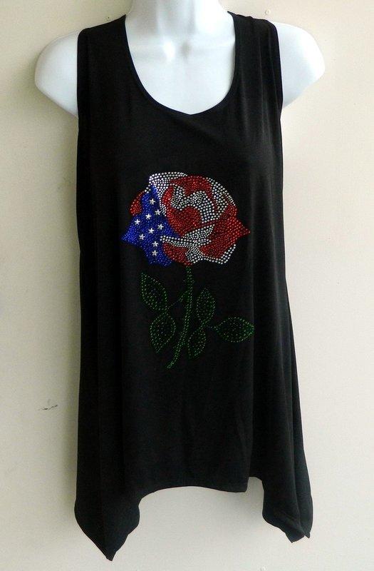 SLEEVELESS Tunics - USA Rose