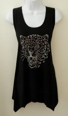 SLEEVELESS Tunics - Cheetah w Emerald Green Eyes