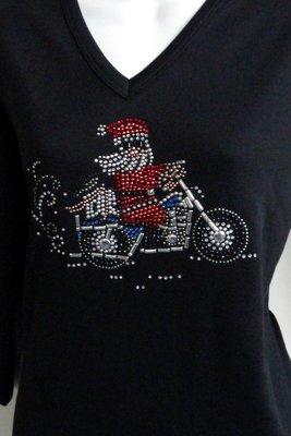 Santa on Motorcycle