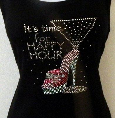 Sexy Pink Shoe w Martini - Happy Hour Theme
