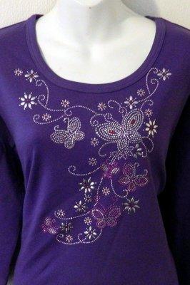 Purple Swirls & Butterflies