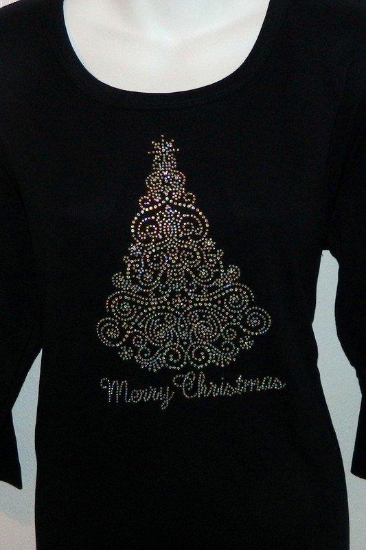 Swirl  Christmas Tree- AB stones