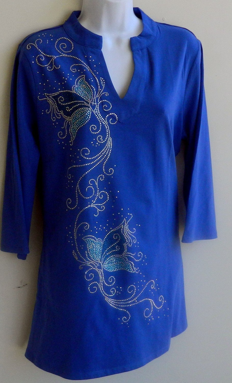 Tunic -  Blue Butterfly on Royal