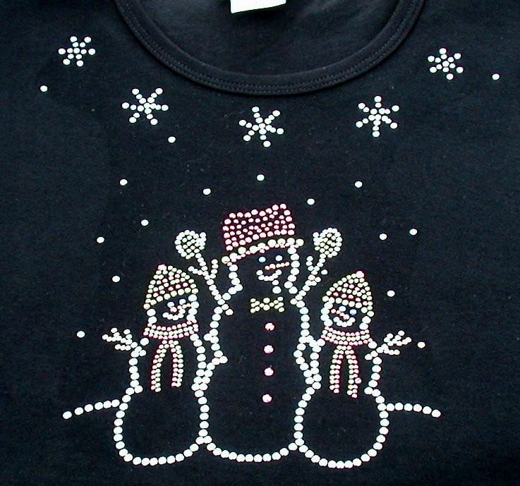 3 Snowman - Round Neckline