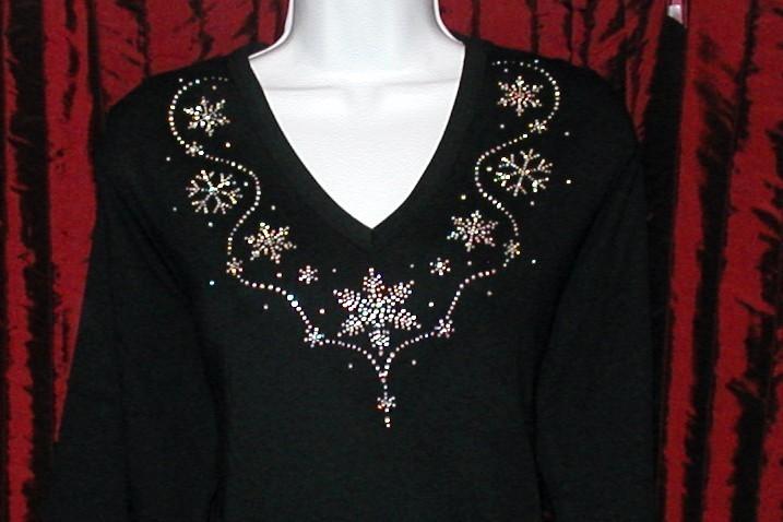Snowflake  - v neckline