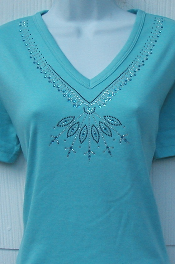 Southwest design - VNeckline  (3/4 sleeves  embellished)