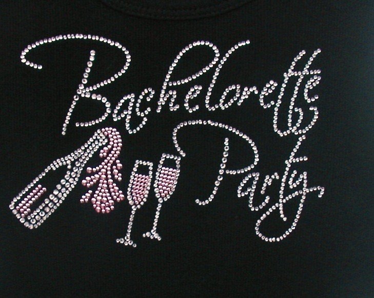 Bachlorette Party w Pink Champagne & Glasses