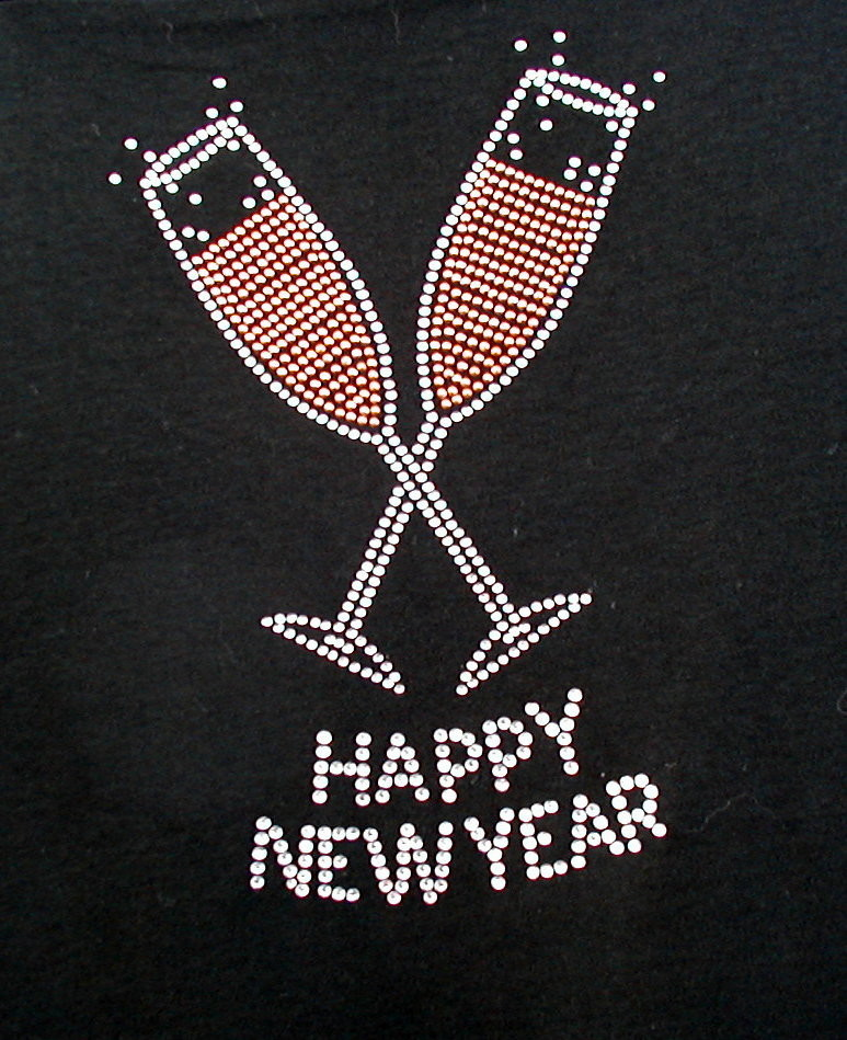 Happy New Year - Champagne Glasses