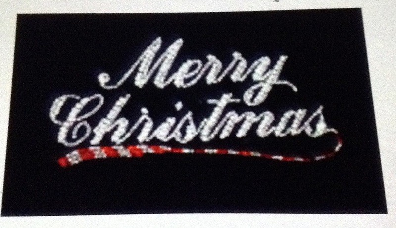 Merry Christmas w Candy Cane design