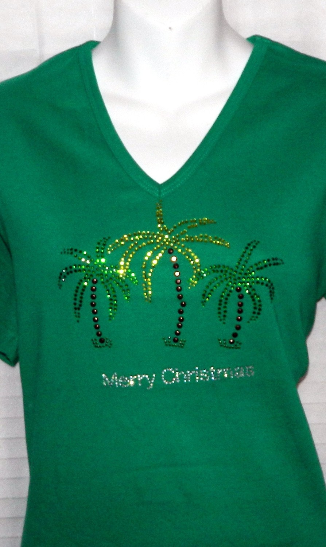 Merry TROPICAL Christmas w 3 Palms Trees