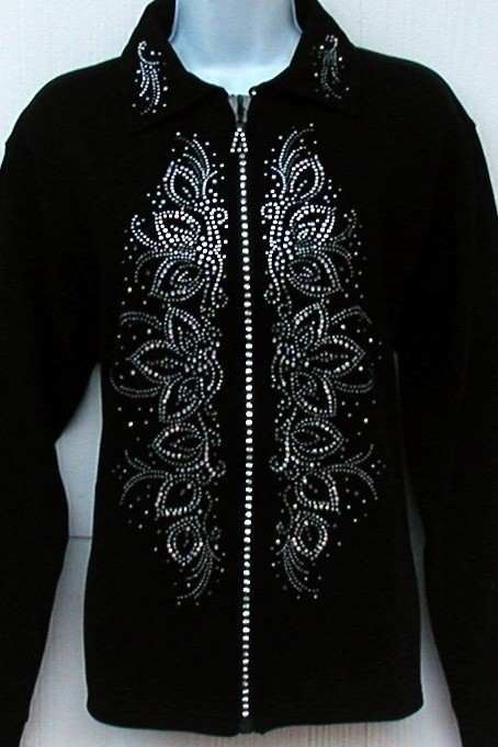 GET READY FOR SPRING - Perfect Rhinestone AB embellished panels & zipper - Lots of colors available