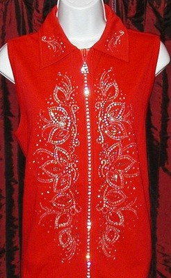 Vest  w rhinestone crystal panels