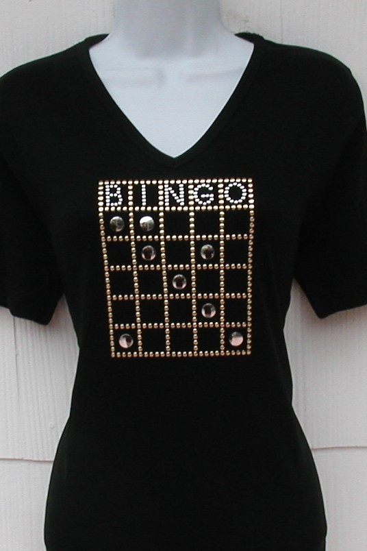 Bingo Card - Gold and Silver studded design