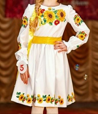 Сукня дитяча вишивана з квітами (Арт. 00353)