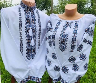 Пара вишиванок, жіноча та чоловіча вишиванка - комплект вишиванок для чоловіка і жінки (Арт. 02325)