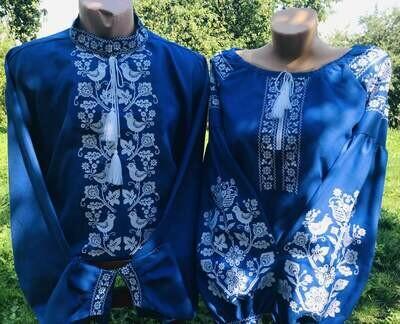 Пара вишиванок, жіноча та чоловіча вишиванка - комплект вишиванок для чоловіка і жінки (Арт. 02372)