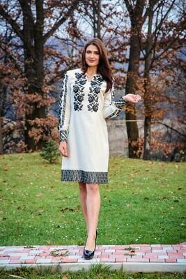 Вишиванка, жіноча сукня вишита бісером (Арт. 02482)