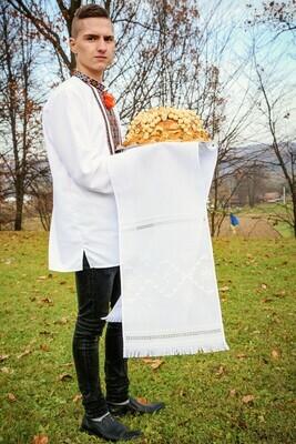 Рушник вишиваний білим по білому (Арт. 02484)