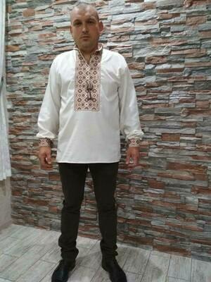 Вишиванка, чоловіча вишита сорочка (Арт. 02489)