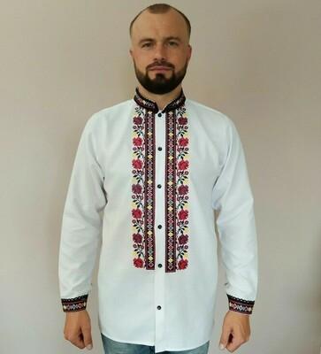 Вишиванка, чоловіча вишита сорочка  (Арт. 02455)